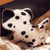 背影狗狗抱枕毛绒玩具创意床头装饰抱枕靠垫趴趴午睡枕头公仔
