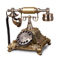 欧式客厅仿古电话机家用卧室创意复古旋转拨座机