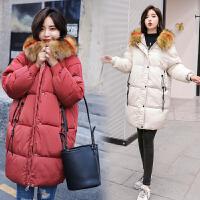 中长款棉衣女2018冬季韩版显瘦加厚保暖连帽羽绒面包服潮