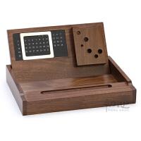 木质多功能办公用品桌面收纳盘 文具杂物收纳整理盒创意收纳