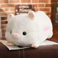 小猪暖手宝宝抱枕公仔玩偶床上抱着睡觉娃娃毛绒玩具女孩可爱懒人 白色