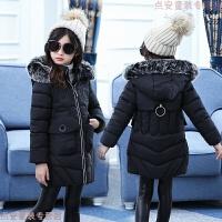 女童棉衣中长款2018新款儿童加厚7冬装5-6-8-9岁童装棉袄外套