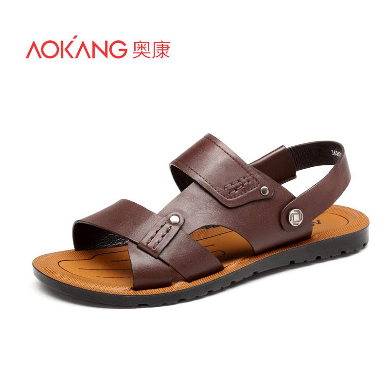 奥康男士夏季凉鞋 休闲鞋子沙滩鞋透气