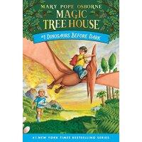预售】英文原版 神奇树屋1:恐龙谷大冒险 6-9岁儿童书 Dinosaurs Before Dark 单本简装