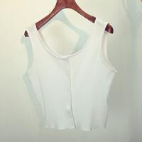 新款夏季韩版性感短款女士上衣修身 针织小衫吊带背心女 打底