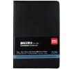 得力皮面抄80页 硬面笔记本子 会议记录18K 25K 32K记事本日记本黑色