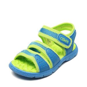 鞋柜/奥斯文儿童凉鞋 2018年夏季镂空舒适小孩男童鞋魔术贴沙滩鞋