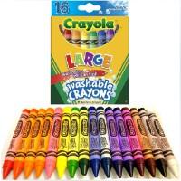 绘儿乐 可水洗16色幼儿专用大蜡笔 52-3281 Crayola涂鸦笔