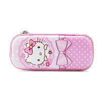 HELLOKITTY KT凯蒂猫笔袋 女小学生文具盒文具袋儿童铅笔袋笔盒学习文具用品 粉色点点款