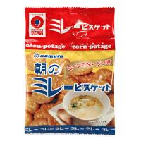 日本野村米乐 玉米浓汤饼干 4联包 宝宝磨牙饼干宝宝零食