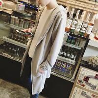 秋季韩版修身个性拉链连帽开衫男士潮流英伦中长款纯色长袖针织衫