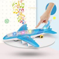 仿真万向滑行客机飞机模型玩具P代惯性飞机音乐灯光男孩玩具