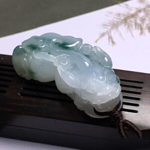 天然精品翡翠貔貅高档翡翠挂件【20F002】