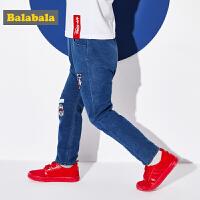 巴拉巴拉童装男童裤子小童宝宝牛仔裤春秋2018新款儿童韩版休闲裤