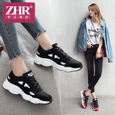 ZHR2018新款原宿ulzzang运动鞋平底休闲鞋单鞋潮ins超火的女鞋子AK07