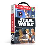 顺丰发货 英文原版 迪士尼星球大战Level 2 6册盒装 World of Reading Star Wars儿童分