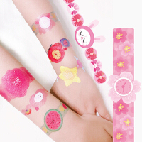 小花同款手表纹身贴Endu儿童纹身贴纸安全无毒防水卡通贴画公主水印幼儿园
