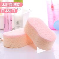 日本进口女士洗澡海绵擦 洗浴用品宝宝沐浴棉浴花儿童搓澡巾