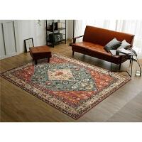 美式复古地毯欧式民族风客厅地毯乡村简约沙发茶几卧室床边毯定制