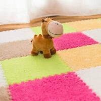 明德法兰绒拼接地毯客厅茶几儿童卧室床边地毯满铺地垫 30*30*0.6�M 1片价(单片