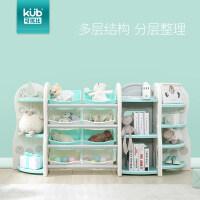 书架大容量 宝宝儿童玩具收纳架柜整理架置储物架幼儿园