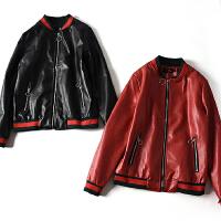 韩版冬季新款女装修身显瘦时尚PU夹克小外套女士百搭皮衣 JY652