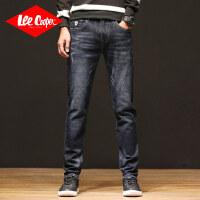 Lee Cooper春夏新款牛仔裤男士潮流猫花弹力修身小脚长裤子百搭牛仔裤