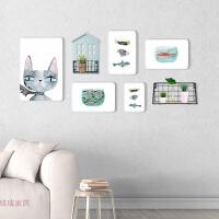 现代简约实木照片墙装饰创意组合相框墙北欧式儿童房背景挂墙