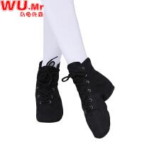 �和�舞蹈鞋 女童�底舞蹈鞋系�Ь羰课栊��和�中大童黑色�功鞋低跟�w操鞋子