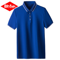 Lee Cooper2020夏季新款短袖T恤舒适男士纯色商务翻领Polo衫男装polo衫