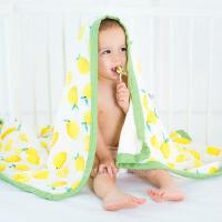 muslintree/棉布树 秋冬婴儿被子竹纤维宝宝抱被 卡通印花四层新生儿包巾婴儿浴巾