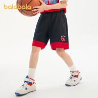 【抢购价:64.9】巴拉巴拉儿童裤子男童短裤透气运动裤2021新款夏装中大童薄款时尚