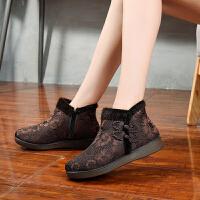 休闲鞋布鞋冬季妈妈女棉鞋加厚保暖中老年人老太太奶奶鞋大码