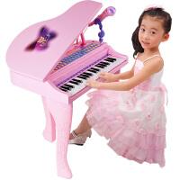 女童宝宝初学者小钢琴玩具儿童电子琴带麦克风1-3-6岁5女孩