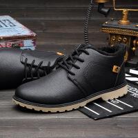 CUM 潮牌冬季新款男士棉鞋休闲鞋男皮鞋保暖工装鞋工作鞋男CQM