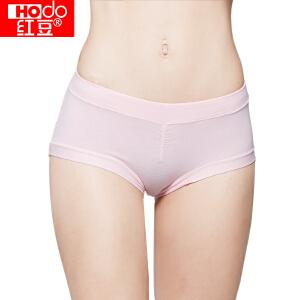 红豆内裤女士内裤纯棉4条纯色中腰收腹三角裤 四色一组