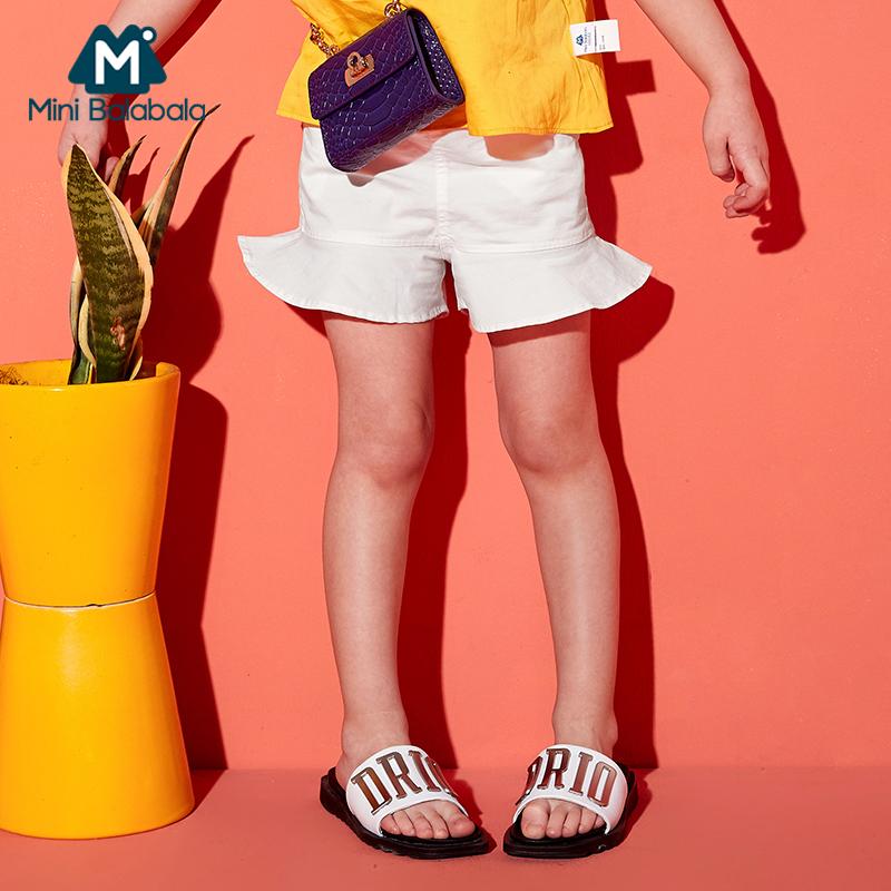 【3折价:42】迷你巴拉巴拉女童短裤新款夏季儿童宝宝韩版荷叶边短裤时尚