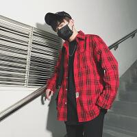 格子衬衫男士衬衣长袖韩版潮宽松帅气春季休闲外套学生衣服