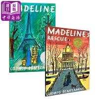 【中商原版】凯迪克大奖绘本Madeline2册 英文原版 玛德琳 儿童故事绘本