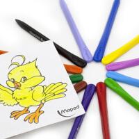 24/36/48色塑料蜡笔 儿童画画笔宝宝彩色蜡笔安全无毒幼儿园小孩美术绘画彩笔涂鸦环保盒套装