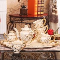 欧式摆件客厅装饰品陶瓷欧式茶具套装创意新婚礼品送闺蜜结婚礼物 高档礼盒包装