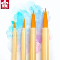 樱花水彩画笔漫画勾线笔工具手绘上色面相画笔套装初学者上色用圆头水彩笔水粉工笔画描边用画笔国画细勾线笔