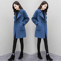 【超值爆款】小个子毛呢外套女中长款韩版2018新款呢大衣秋冬流行宽松显瘦加厚