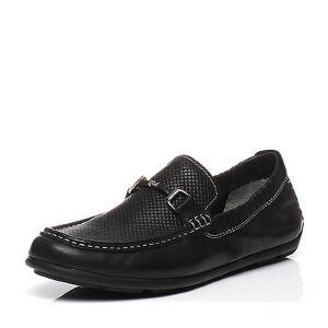 BASTO/百思图2017春季专柜同款牛皮套脚平跟舒适男休闲鞋BFR07AQ7
