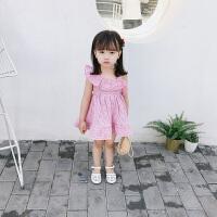 新款夏装女童洋气吊带背心裙子女宝宝连衣裙儿童公主裙