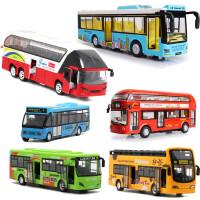 儿童玩具小汽车礼物合金金属仿真双层大巴士公交车模型