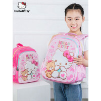 凯蒂猫hello kitty小学生书包女孩3-6-12周岁1-6年级公主背包减负