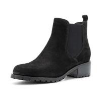 【领券减100】星期六(ST&SAT)冬季专柜牛皮革切尔西女短靴SS84116714