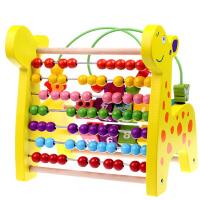 绕珠串珠木制玩具1-3岁宝宝多功能早教儿童计算珠架