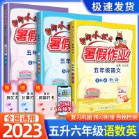 黄冈小状元暑假作业五年级语文数学英语全套3本2021新版五升六年级